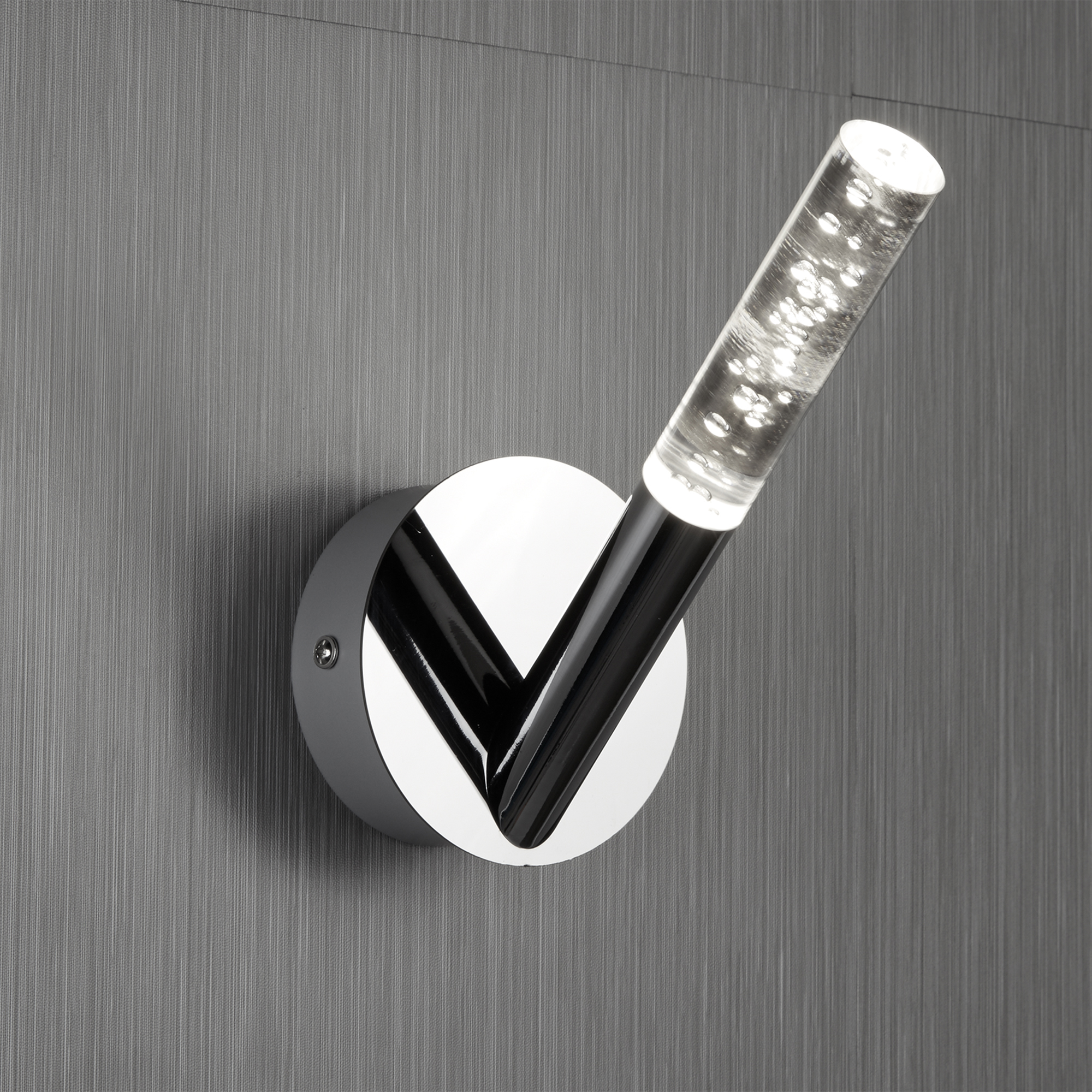 Tnl 1 Light Bathroom Wall Bracket Bubbled Acrylic Chrome Rods The Northey Lights