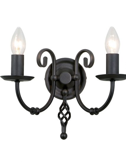 art2 black artisan two light wall light black